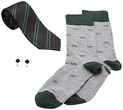 Corbata, Gemelos y Calcetines Hackett Verdes Para Hombre