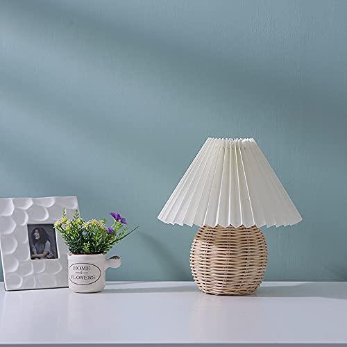 CYzpf Lámparas Mesita de Noche con Mando a Distancia Lámpara de Mesa Pequeña Creativa LED Moderna Luces de Escritorio Luz de Lectura para el Dormitorio Sala de Estar Oficina,White