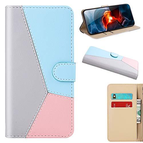 YINCANG Capa protetora para Xperia XZ3, couro PU com à prova de umidade com compartimento para cartão e fivela magnética e suporte para Sony Xperia XZ3 de 6 polegadas - Cinza