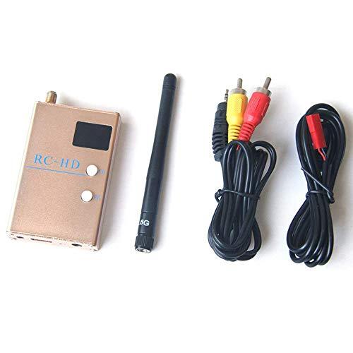 SYUN FPV 5.8GHz 48 Canales RC-HD Receptor de Video 1080P Salida y una / V y Cables de AlimentacióN con Antena 2DBi para FPV Carreras VehíCulo AéReo No Tripulado