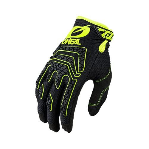 O'NEAL | Fahrrad- & Motocross-Handschuhe | MX MTB DH FR Downhill Freeride | Langlebige Materialien, Silikonprint für Grip | Sniper Elite Glove | Erwachsene | Schwarz Neon-Gelb | Größe M