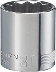 Large markings for quick socket identification Full polish chrome finish for corrosion resistance 12 point socket for quick engagement with fastener Meets or exceeds ASME specifications CRAFTSMAN full Lifetime warranty Full Lifetime Warranty, refer t...