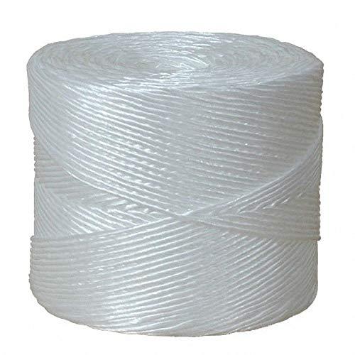 1-PACK Packschnur, Kordel, Bindfaden, PP, extrastark, weiß, 3.0mm, 600 Meter