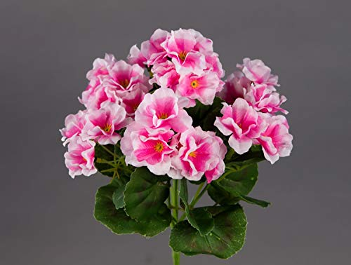 Seidenblumen Roß Geranie 26cm rosa -ohne Topf- ZF (Modell 2018) Kunstpflanzen Kunstblumen künstliche