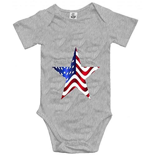Lplpol Una bandera de algodón bebé mono mono mono para niños unisex GK458, multicolor, 12 meses