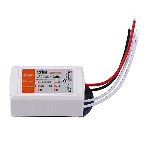 Fuente de alimentación 18W / 28W / 48W / 72W / 100W DC 12v Adaptador de Controlador LED Salida del Interruptor del Transformador 100V-240V para LED Strip-White 18W