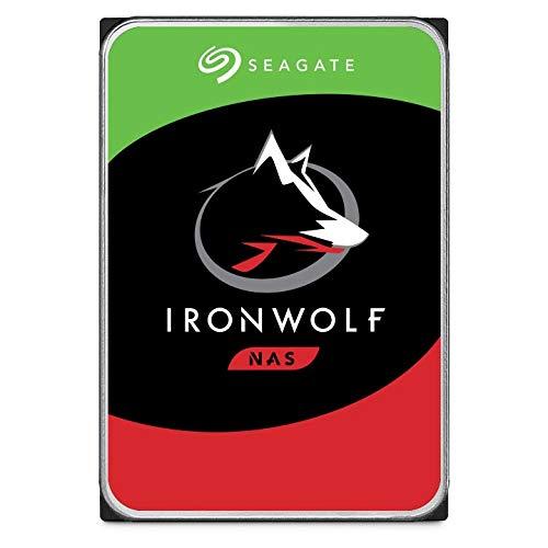 Seagate IronWolf 2 TB HDD, NAS interne Festplatte (8,9 cm (3,5 Zoll), 5900 U/Min, 64 MB Cache, SATA 6 GB/s, silber, Modellnr.: ST2000VNZ04, FFP