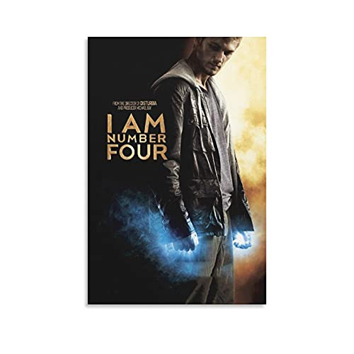 KLOI I Am Number Four Movie Posters Poster Decorative Painting Canvas Wall Art Living Room Posters Bedroom Painting 16×24inch(40×60cm)