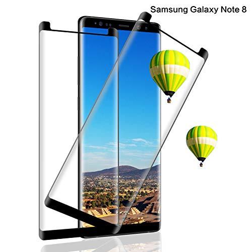 Panzerglas Schutzfolie für Samsung Galaxy Note 8[2-Pack], 9H Härte Panzerglasfolie[Anti-Bläschen][Anti-Kratzen][Anti-Fingerabdruck] Panzerglas Displayschutzfolie für Samsung Note 8