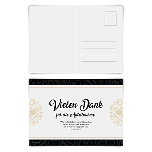 Trauerkarten Trauer Danksagungen 12 Stück Karten Set - Abschied Postkarten