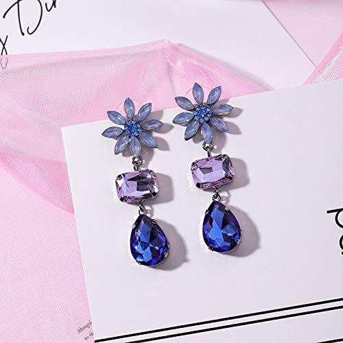 JINGM Boucles d'oreilles en Cristal De Tournesol pour Les Bijoux De Mode pour Femmes