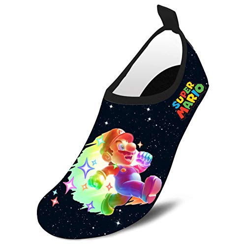 IRRYNVP Su-per M-ari-o Water Shoes for Kids Girls Boys,Toddler Kids Swim Water Shoes Quick Dry Non-Slip Water Skin Barefoot Sports Shoes Aqua Socks for Beach Outdoor Sports