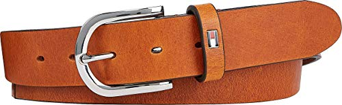 Tommy Hilfiger Curve Danny Belt 3.0 Cinturón, Cognac, 125 para Mujer