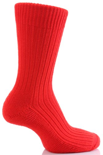 Glenmuir Herren 1 Paar Cushion Sole Wolle Golf Socken In 7 Farben - 7-11 Mens - Rot