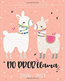 Pretty Simple Planners Weekly and Monthly Llama Planner: Planner Schedule + Organizer   Inspirational Quotes   Weekly & Monthly View (2020-2021 Academic Planner)