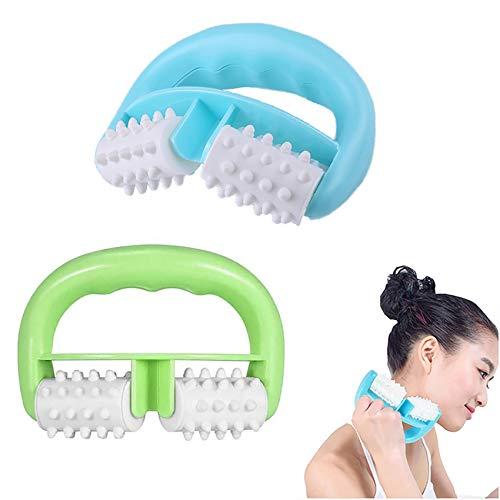 2 rulli massaggianti con impugnatura a forma di D, anticellulite, contro la cellulite e i problemi...