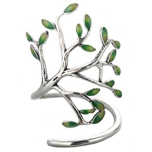 Anillo abierto plata ley diseño árbol vida, Helen