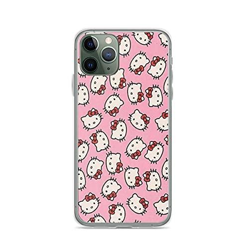 Funda personalizada compatible con Y2k Samsung Kitty iPhone Rosa 12/11 Pro Max 12 Mini SE X/XS Max XR 8 7 6 6s Plus Case TPU Clear Slim Fit Fundas de goma