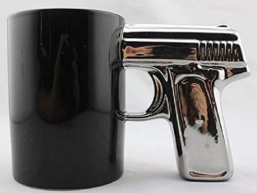 BLACK&SILVER-Pistol Cup,Gun Mug,Mug