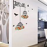 Nueva jaula de pájaros volando para la sala de estar, cuarto de niños, pegatinas de pared, calcomanías de pared de vinilo, etiqueta de la pared para la habitación de los niños, decoración del hogar