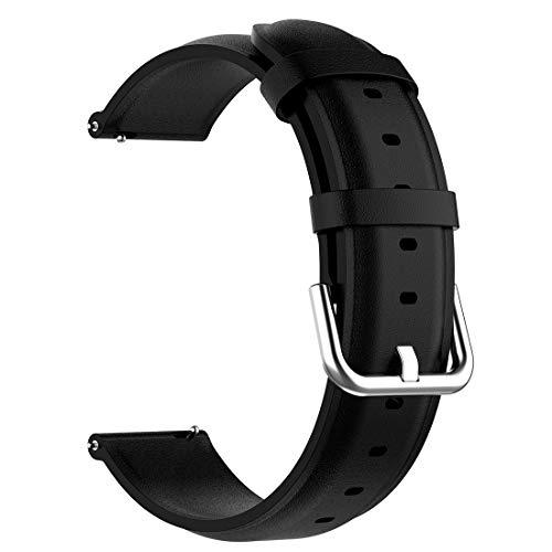 AWADUO - Correa de repuesto para Huawei Watch GT 2e, 22 mm, correa de piel de repuesto para Huawei Watch GT 2/ GT2 de 46 mm, suave y duradero (cuero negro)