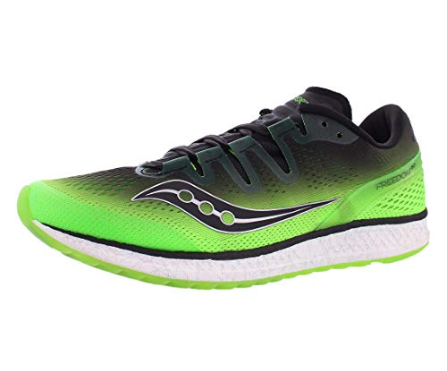 Saucony Men's Freedom ISO Running Shoe, Slime Black, 12 M US