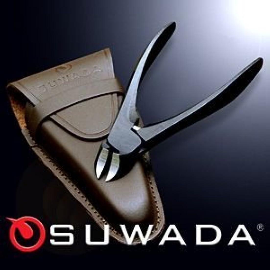 フレットパンチ助けになるSUWADA爪切りブラックL&革ケースセット 特注モデル 諏訪田製作所製 スワダの爪切り