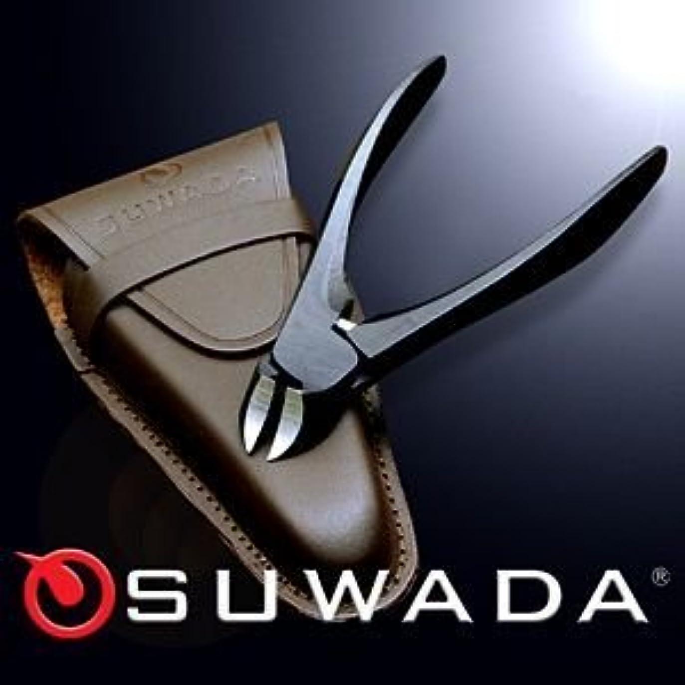 意見世界的に遅れSUWADA爪切りブラックL&革ケースセット 特注モデル 諏訪田製作所製 スワダの爪切り