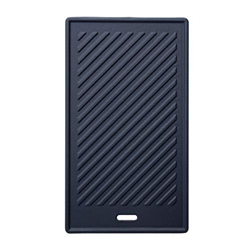 TAINO Black/Platinum Wendeplatte Gusseisen Grillplatte Zubehör Universal Gasgrill