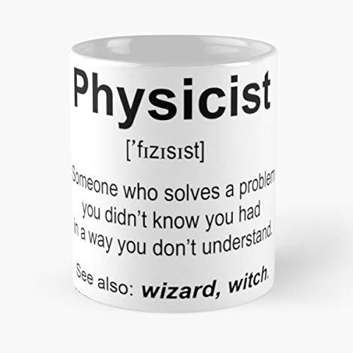 Physicist Classic Taza – Las divertidas tazas de café para Halloween, vacaciones, decoración de fiesta de Navidad, 11 onzas Miinviet blanco
