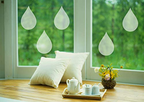 H421ld Juego de 10 adhesivos para ventanas de vinilo de cristal esmerilado para ventana, decoración única, protege la ventana de niños y mascotas