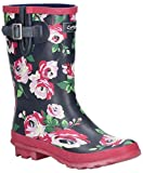 Cotswold Paxford Womens Wellies Black/Flower 6 UK