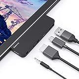 USB C ハブ usb type c ハブ Surface Go ドッキングステーション マイクロソフト Surface Go 専用 Baseus USB C HDMIアダプター 4K HDMI搭載 USB 3.0ハブドッキングステーション USB 3.0ポート USB-C PD電源給電 3.5mmオーディオ/ヘッドフォンジャック 5 Gbps高速データ伝送