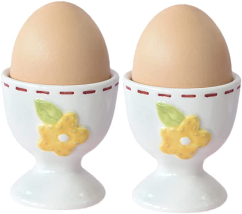 Sizikato Topics on TV Our shop most popular 2pcs White Porcelain Egg Serving Cup Cute F Holder