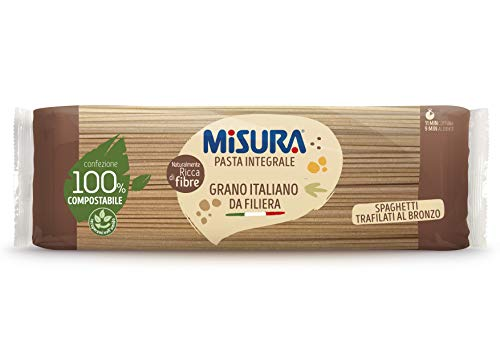 Misura Spaghetti Integrali Fibrextra   Grano 100% Italiano   Confezione da 500 grammi