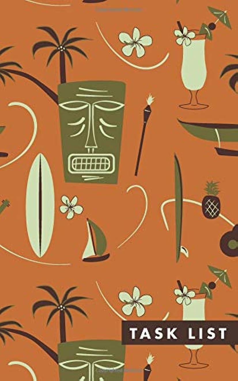 等価手つかずの強打Task List: Orange Retro Hawaiian Undated Travel Goal Planning and Task Notebook