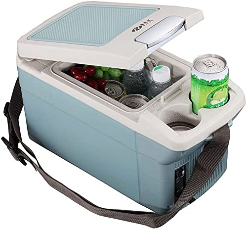 TANKKWEQ Mini refrigerador portátil Ahorro de energía 6L Mini refrigerador Mini refrigerador y Calentador, cálido y Uso doméstico (Color : Blue)
