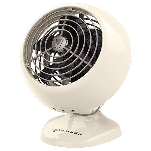 Vornado VFAN Mini Classic Personal Vintage Air Circulator Fan, Vintage White (Renewed)