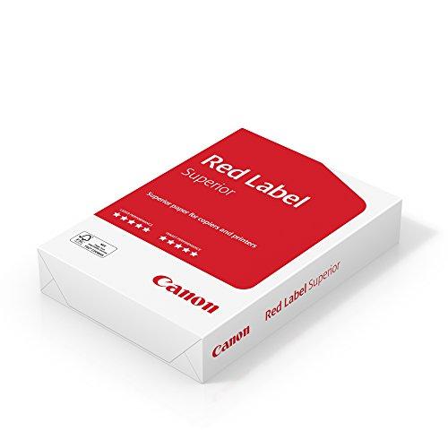 Canon 8627A80S Red Label Superior A4 80g/m² Geschäftspapier, 500 Blatt FSC zertifiziert, alle Drucker CIE 168, hochweiß
