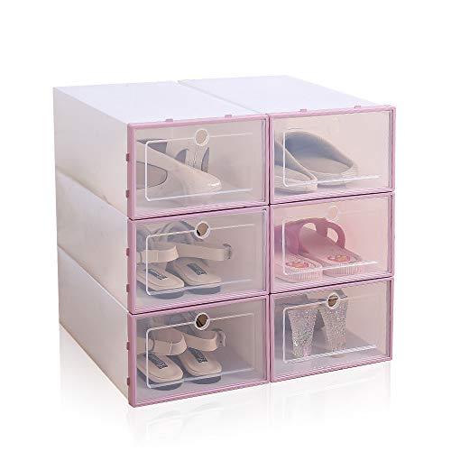 Local Makes A Comeback Caja de zapatos de plástico transparente (6 piezas), Artefacto de almacenamiento de zapatos, Caja de almacenamiento de zapatos