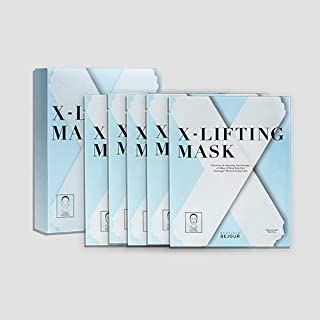 Boutioue Bejour X-Lifting Mask With Premium X-Weaving Technology 4-Way Lifting Care 4-Way Total Facial Lifting Solution Anti-aging Lift Up Facial Mask Sheet, 1 Pack Of 5 PCS