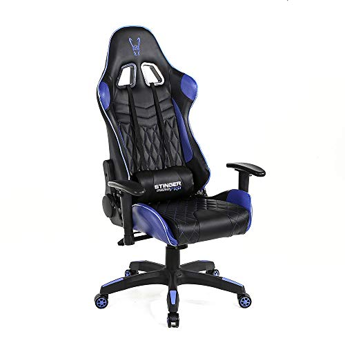 Woxter Stinger Station Pro Blue - Silla Gaming Led (Eje de Acero,Levan