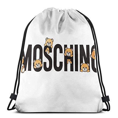 Simpatico zaino Moschino Teddy Bear Sport Bag Gym Sack Coulisse Zaino per lo shopping in palestra