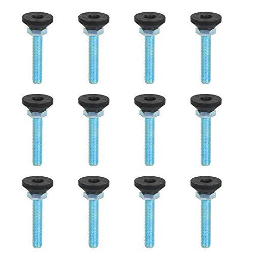LAITER12pcs Tornillo de ajuste para Muebles patas de Nivelamiento Rosca M10 Pies ajustables 30 mm Altura Regulable Amortiguador de Vibraciones Capacidad carga 500Kg para Mobiliario Mesa Sofá