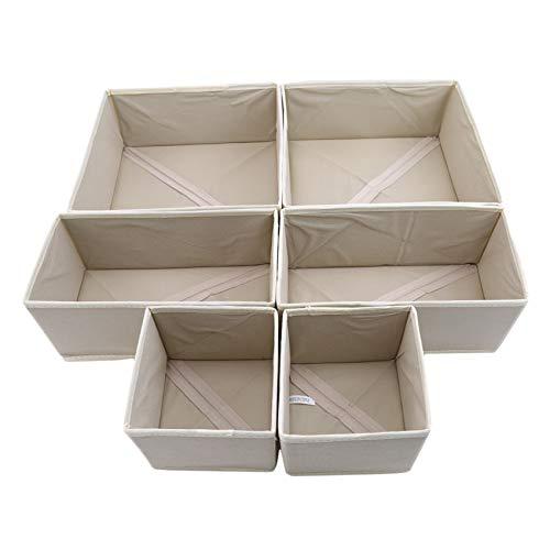 Unknow Padokls Organizador de cajones de Ropa de 6 Piezas, separadores, Armario Plegable, Armario, Caja de Almacenamiento para Ropa Interior, Sujetadores, Calcetines
