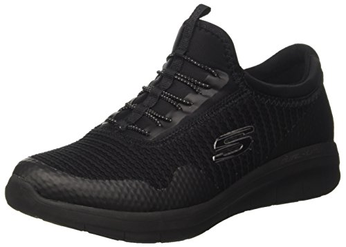 Skechers Skechers Damen Synergy 2.0 - Mirror Image Slip On Sneaker, Schwarz (Black), 37 EU