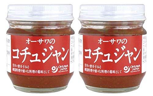 日本人好みの韓流調味料 無添加 オーサワのコチュジャン 85g×2個 ★ コンパクト ★ 2種のお味噌、唐辛子、有機甘酒、麦芽水飴などを絶妙配合。ビビンバなど韓国料理だけでなく、煮物・温野菜や餃子にも合います。