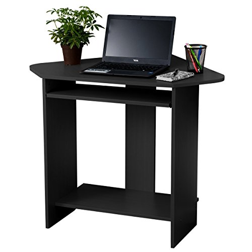 Fineboard Black Corner Desk For Small Space