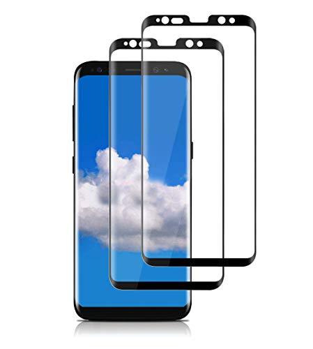 TAOZZY [Lot de 2 [Cadre d'Installation Gratuit] Protection d'écran en Verre trempé pour Samsung Galaxy S8 Plus (incassable/sans Bulles) Protection d'écran renforcée pour Samsung Galaxy S8 Plus