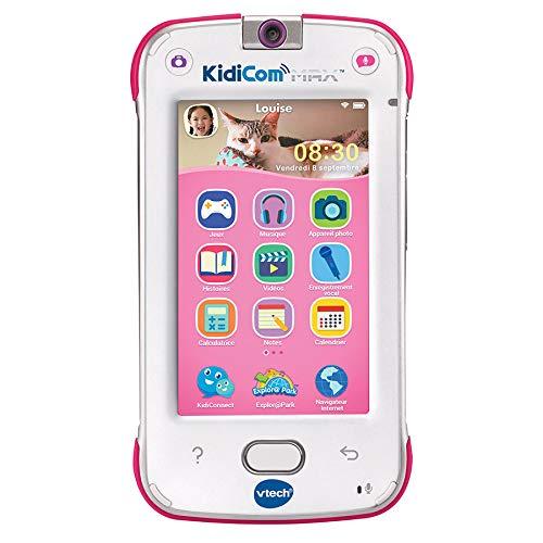 VTech – KidiCom Max Rose – Smartphone pour enfant évolutif, ultra résistant, sécurisé, avec appareil photo intégré - Version FR